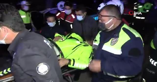 Polisler uygulamadan kaçan aracı kovalarken kaza yaptı