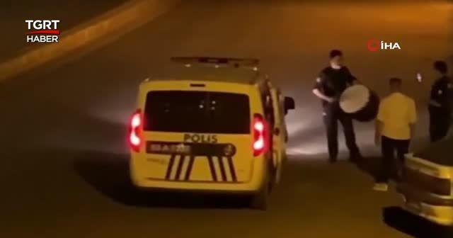 Polisten davul operasyonu