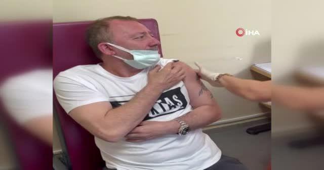 Sergen Yalçın aşı oldu: