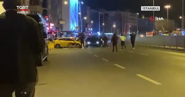 Yol ortasında 'kaza' kavgası