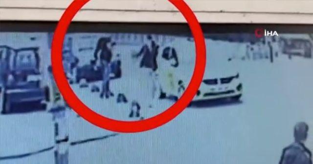 Otogarda bombayla yakalanan teröristler kamerada