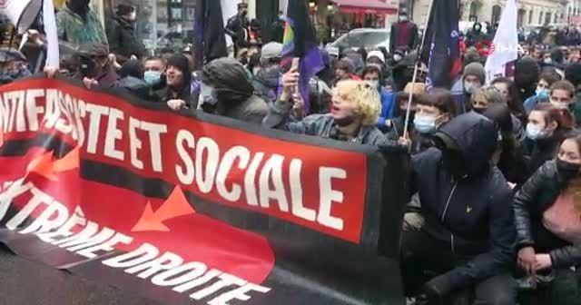 Paris'te ırkçılık ve aşırı sağ karşıtı protesto