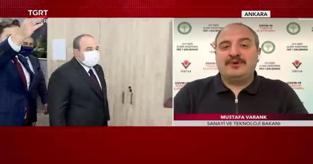 Sanayi Ve Teknoloji Bakanı Mustafa Varank TGRT Haber'de