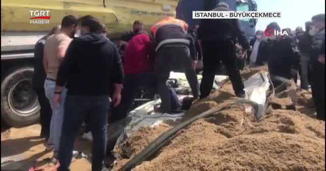TEM'de hafriyat kamyonu dehşeti: 1 ölü