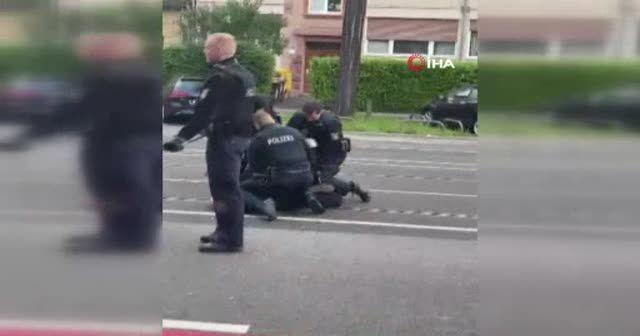Alman polisi Türk vatandaşını darbetti