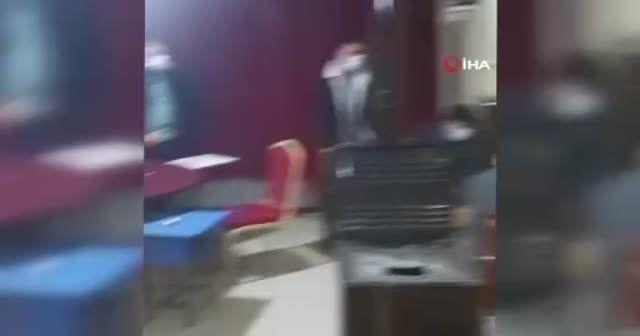 Baskında balkona saklanmak istedi, kameralara yakalandı