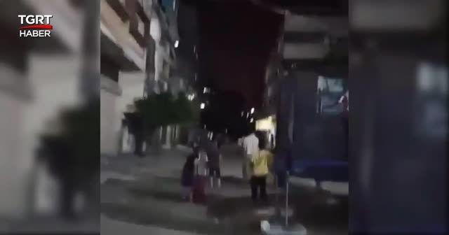 Çocuklar oyun oynarken şehre füze yağdı