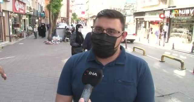 Fatih'te taksici ve yolcunun kısa mesafe kavgası kamerada