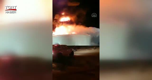 Gazze'den atılan roket enerji tesisini vurdu