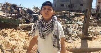 Gazze'de yaşananları rap ile dünyaya duyurdu