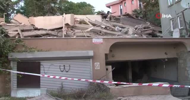 Sarıyer'de çöken 9 katlı binanın son hali gün ağarınca ortaya çıktı