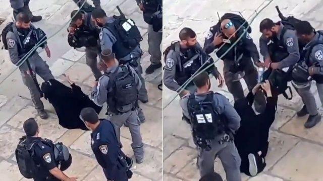 18 İsrail askerinden arama bahanesiyle Filistinli kadına eziyet!