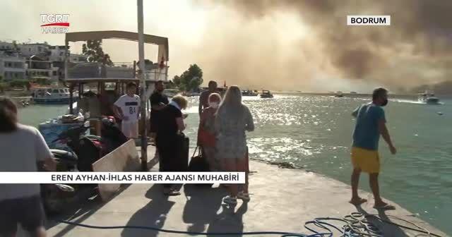 Bodrum'daki orman yangını otele sıçradı
