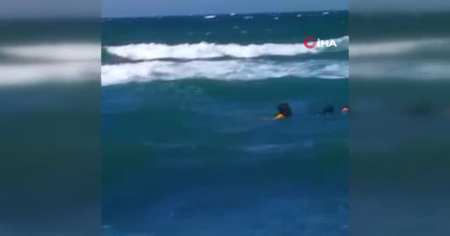 Boğulmaktan son anda kurtarıldılar