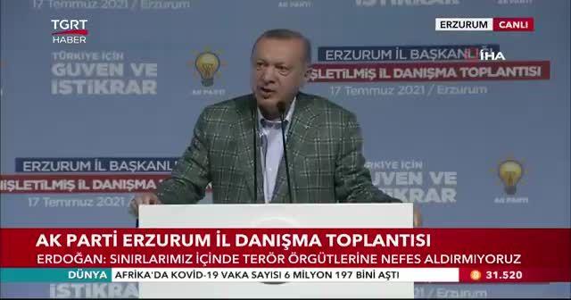 Cumhurbaşkanı Erdoğan: 9,5 milyar TL olan projeleri Erzurum'a sunacağız
