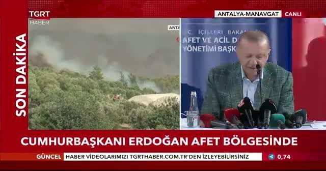Cumhurbaşkanı Erdoğan afet bölgesinde açıkladı: 50 milyon lira ödenek gönderildi