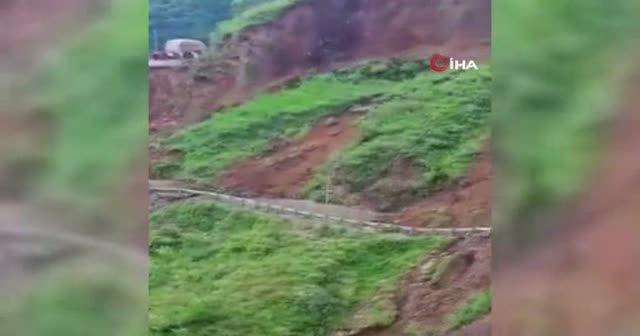Hindistan'da toprak kayması: Yol çöktü 204 kişi mahsur kaldı