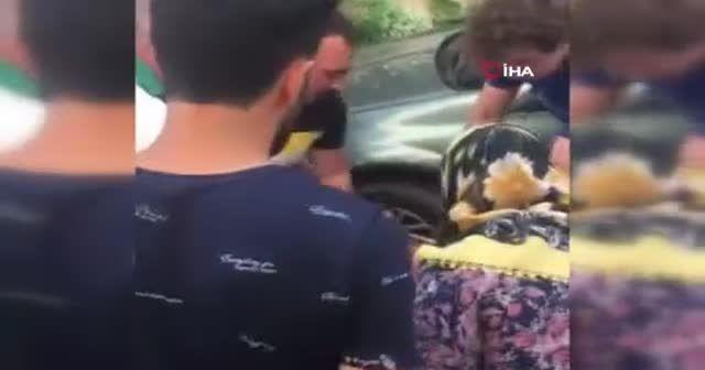 Hırsız çocuğa sandalye fırlattı