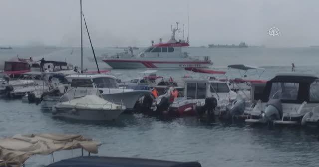 Balıkçı barınağında yangın: Tekneler yandı