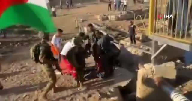 İsrail güçlerinden Filistinlilere sert müdahale: 1 ölü 158 yaralı