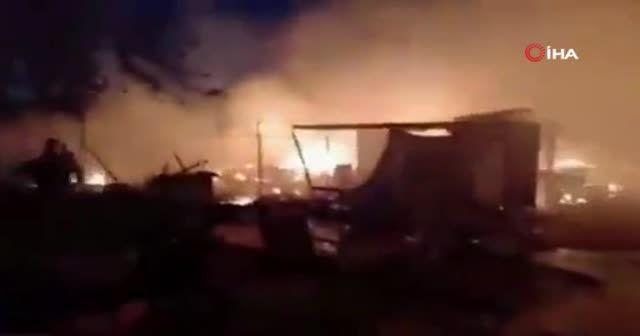 Lübnan'da Suriyeli mülteci kampında yangın: 5 yaralı