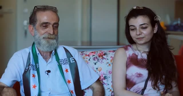 Suriyeli baba ve kızı 12 yıl sonra kavuştu