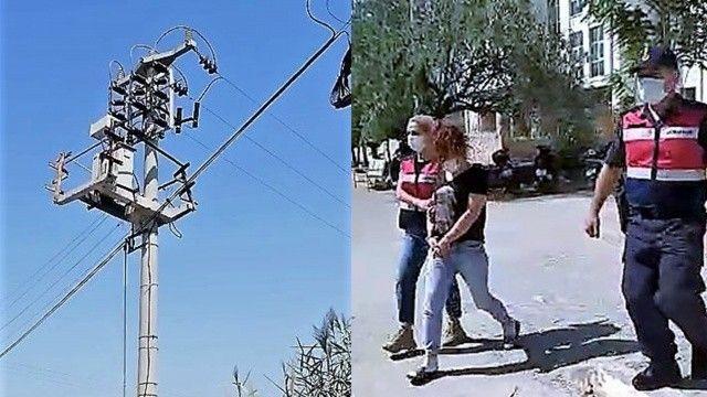 10 metre tırmanan ev hanımı 250 kg trafoyu çaldı