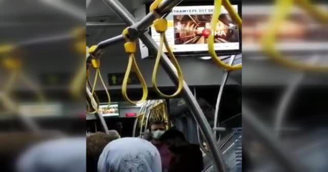 İETT otobüsünde şoke eden manzara