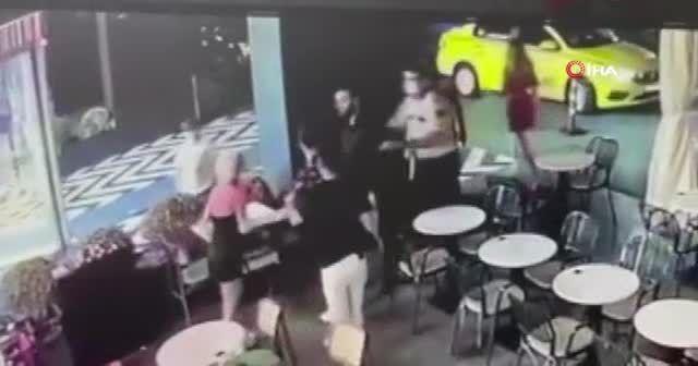 Begüm Polat'a saldırı anı kamerada