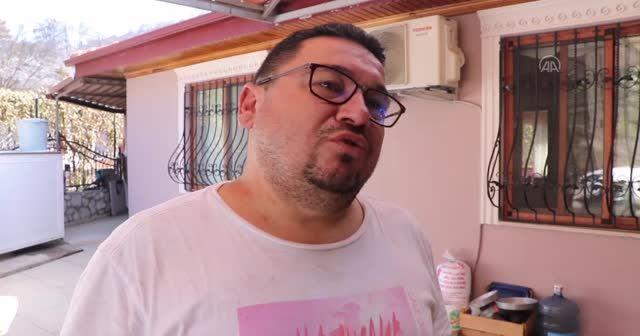 Marmaris'te evi yanmaktan son anda kurtulan Mesut Akgül o anları anlattı