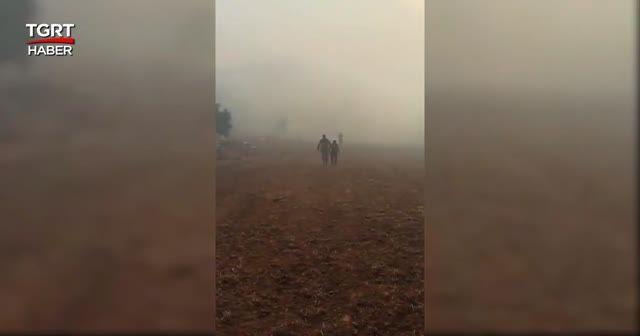 Yangında mahsur kalan kişi TSK'nın helikopteriyle kurtarıldı
