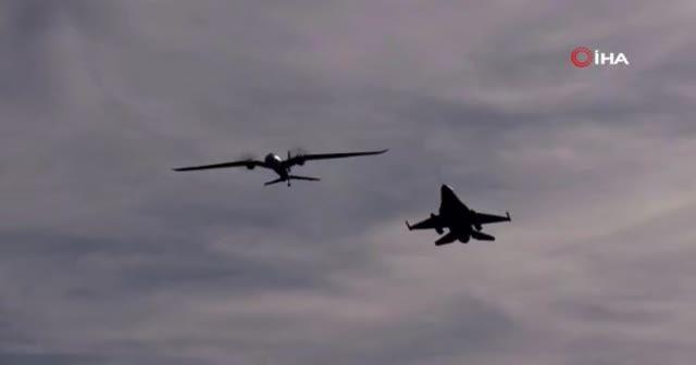 Akıncı ve F-16 yan yana uçtu
