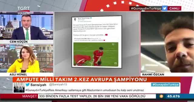 Ampute Futbol Milli Takımı'nın Kaptanı Rahmi Özcan TGRT Haber'e konuştu: Başarımızın sırrı Türk insanının sevgisi