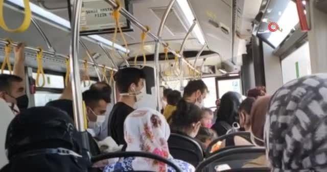Başakşehir'de İETT şoförü, yolcular ile tartıştı