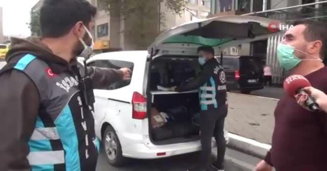 Ceza yiyen taksici tepki gösterdi
