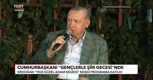Erdoğan'dan gülümseten 'şiir' cevabı