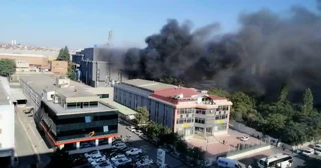İstanbul Bahçelievler'de korkutan yangın