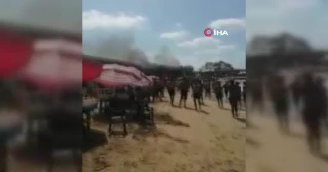 Lübnan'da plajda tüp patladı: 7 yaralı