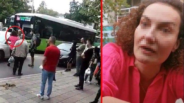 Lüks aracından inen kadın sürücü dehşet saçtı