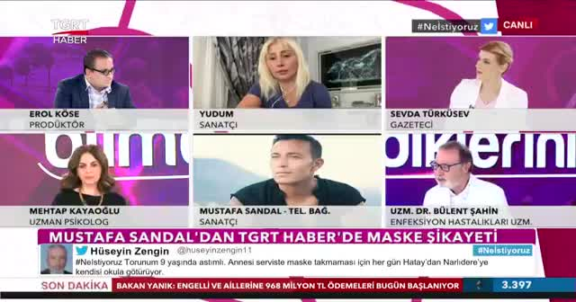 Sanatçı Mustafa Sandal TGRT Haber'e konuştu: Çocuklarım okulda maske takıyor