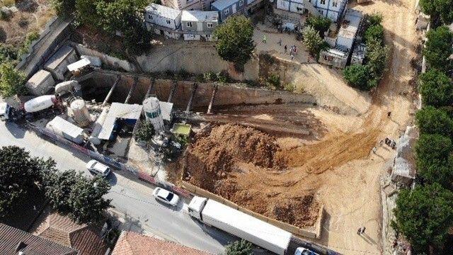 Sancaktepe'deki metro inşaatında göçük