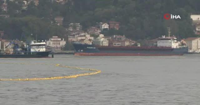 Sarıyer Yeniköy'de iki yük gemisi çarpıştı