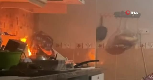 Sinir krizi geçirdi apartmana dehşeti yaşattı! Eşyaları kırıp evi ateşe verdi