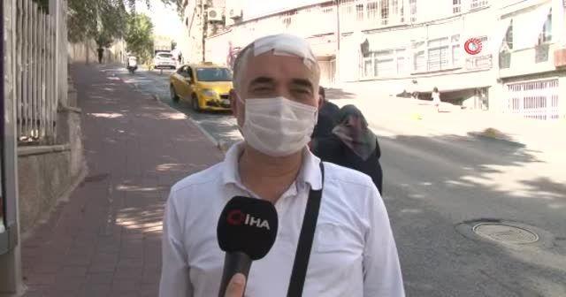 Taksiciye yumruklu sopalı saldırı kamerada