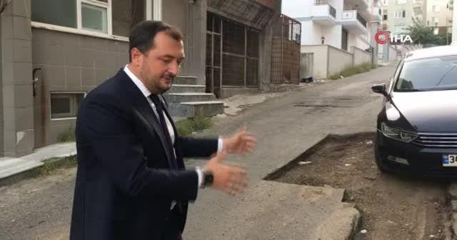 TESKİ'nin delik deşik ettiği sokaklara Belediye Başkanından isyan