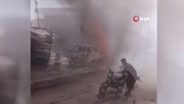 Afrin'de bomba yüklü araç patladı: 5 ölü, 10 yaralı