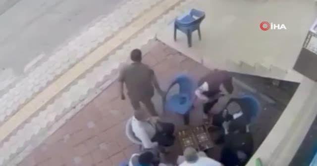 Baltalı saldırı kamerada