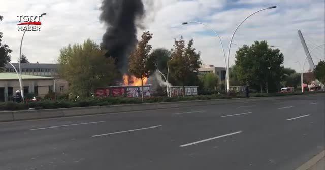 Başkent'te MTA bahçesinde doğal gaz patlaması