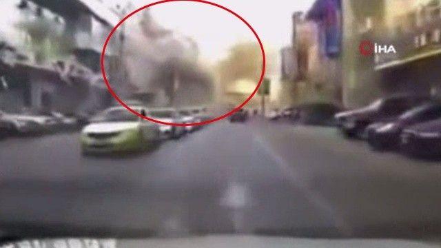 Çin'de korkunç patlama: Onlarca metre mesafedeki binalar ve araçlar hasar gördü