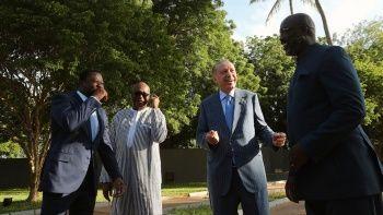 Cumhurbaşkanı Erdoğan üç Afrika ülkesinin liderleriyle buluştu